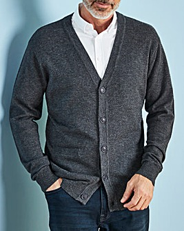 W&B Charcoal Wool Mix Button Cardigan R