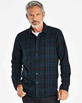 W&B Navy Long Sleeve Check Shirt R