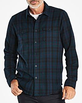 W&B Navy Long Sleeve Check Shirt R