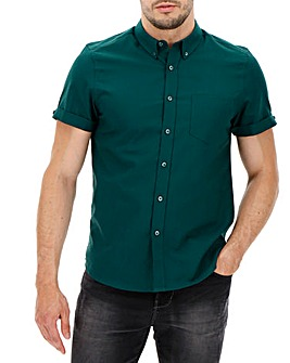 Forest Green Short Sleeve Oxford Shirt Long