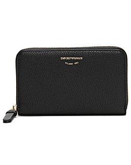 Emporio Armani Pebble Zip Around Wallet