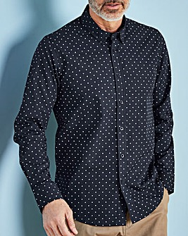 W&B Navy Long Sleeve Spot Shirt R