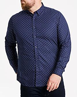 W&B Navy L/S Spot Shirt R