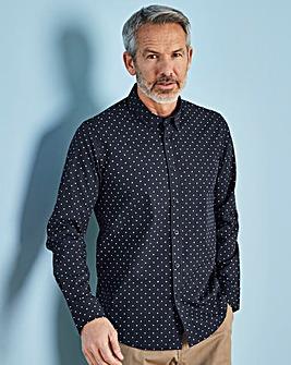W&B Navy Long Sleeve Spot Shirt R
