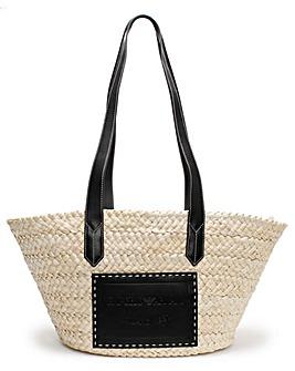 Emporio Armani Straw Shopper Bag