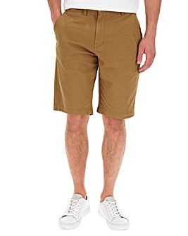 Tobacco Stretch Chino Shorts