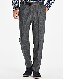 W&B Charcoal Wool Mix Trousers 31in