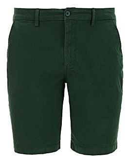 Forest Green Stretch Chino Shorts