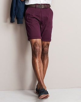 Plum Stretch Chino Shorts