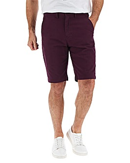 Plum Stretch Chino Shorts