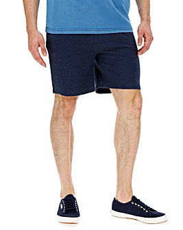 Denim Marl Fleece Jog Shorts