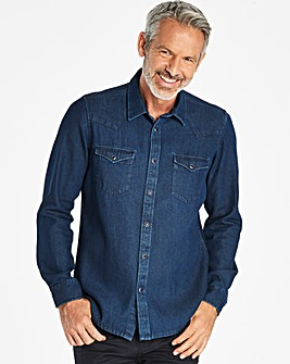 W&B Indigo Long Sleeve Denim Shirt R