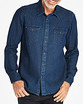 W&B Indigo Long Sleeve Denim Shirt Regular