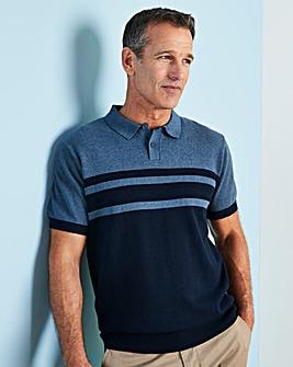 W&B Blue Stripe Knitted Polo R