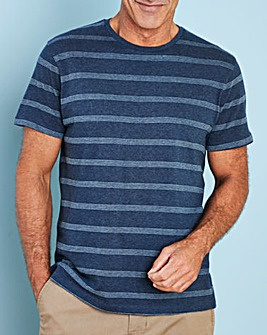 W&B Navy Short Sleeve Stripe T-Shirt Regular