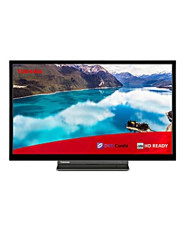 Toshiba 24D3A63DB 24 inch HD Ready Smart LED TV with DVD