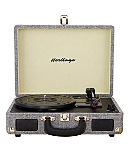 Heritage Suitcase Turntable Grey