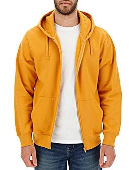 Ochre Full Zip Hoody Long