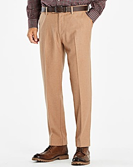 W&B Camel Wool Mix Trousers 31in