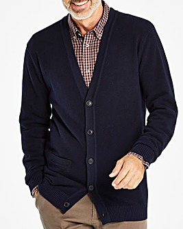 W&B Navy Button Cardigan R
