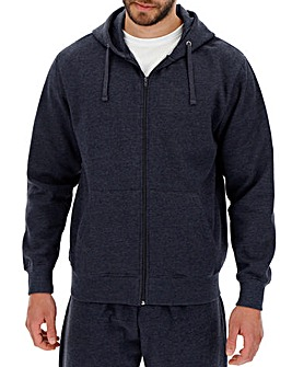 Denim Marl Full Zip Hoody Long