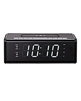JDW Bluetooth Clock Radio with Qi Charger