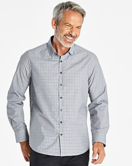 W&B Grey Long Sleeve Check Shirt R