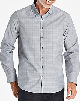 Grey Long Sleeve Check Shirt R