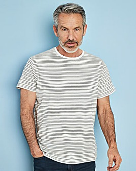 W&B Ecru Short Sleeve Stripe T-Shirt R