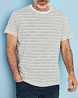 W&B Ecru Short Sleeve Stripe T-Shirt R