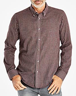 W&B Wine/Grey Check Long Sleeve Shirt R
