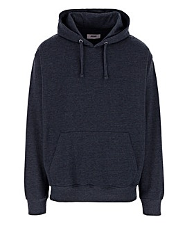 Denim Marl Over Head Hoody