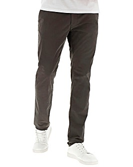 Dark Grey Stretch Tapered Chino 29In