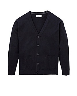 Navy Wool Mix Button Cardigan R