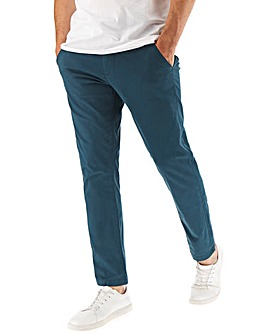 Dark Blue Stretch Tapered Chino 33In