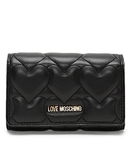 Love Moschino Ellen Quilted Heart Wallet
