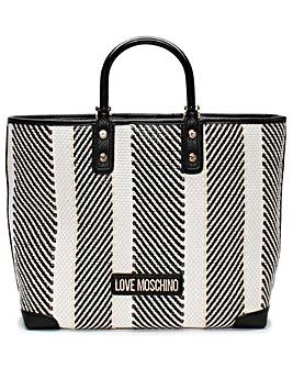 Love Moschino Emma Woven Shopper Bag