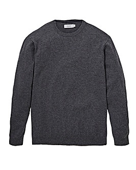 W&B Charcoal Wool Mix Crew Neck Jumper Regular