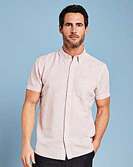 W&B Pink Stripe Linen Mix Shirt R