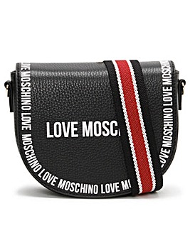 Love Moschino Leather Logo Cross-Body Bag