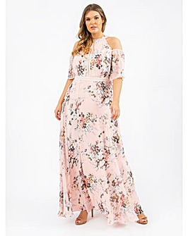 Lovedrobe Luxe Floral Blush Maxi Dress