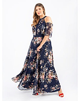 Lovedrobe Luxe Floral Navy Maxi Dress