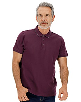 Mulberry Stretch Tipped Polo