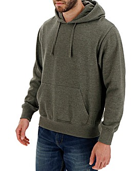 Khaki Marl Over Head Hoody Long