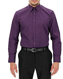 Purple Long Sleeve Formal Shirt