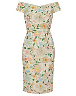 Gina Bacconi Mayla Embroidered Dress
