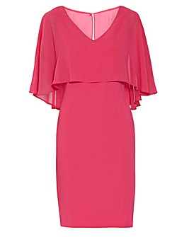 Gina Bacconi Adele Moss Crepe Dress