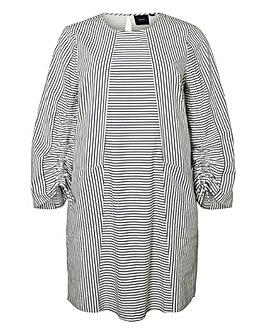 I.Scenery Stripe Cotton Dress