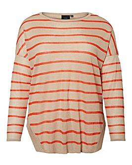 I.Scenery Soft Knit Stripe Pullover