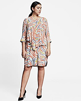I.Scenery Relaxed Fit Printed Dress
